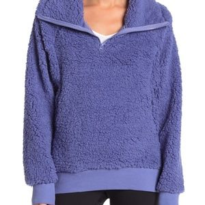 Z by Zella Power Up Cozy Faux Shearling Pullover M